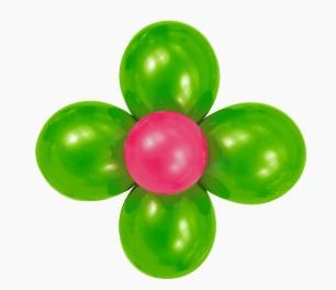 Ballon bloem creeezy for Ballonnen tafels