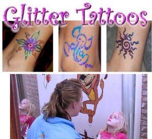 schminken en glitter tattoo