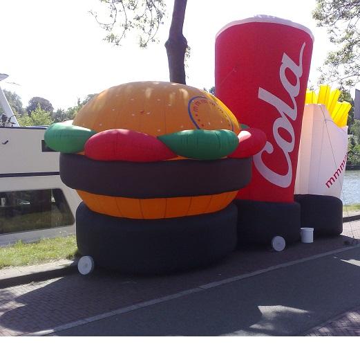 hamburger friet cola
