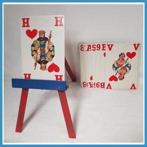 hoger lager spel kaarten