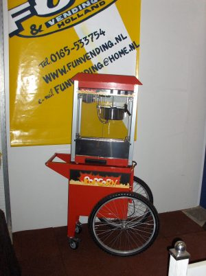 popcorn machine met kar
