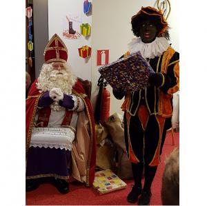Sinterklaas en pieten bezoek